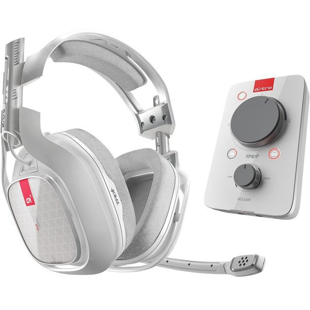 Astro A40 TR + MixAmp Pro Gaming Headset (White) for PC, Xbox One