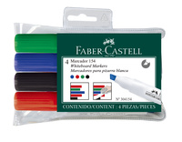 Faber-Castell: Whiteboard Marker 154 Chisel (Wallet of 4)