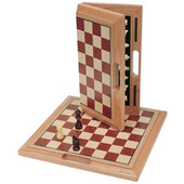 Camphor Chess Set Folding 16""