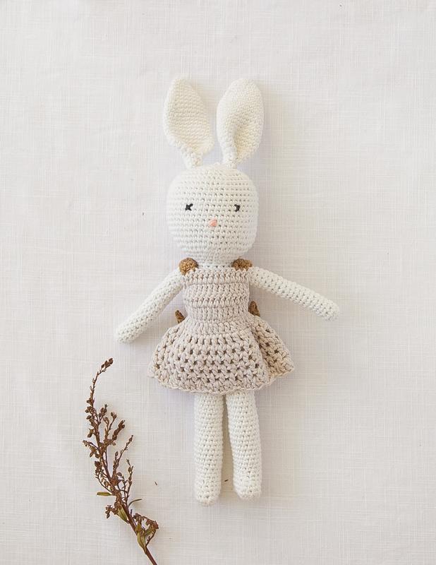Karibou Kids: Karibunny Vintage Style Dress-up Rabbit Doll
