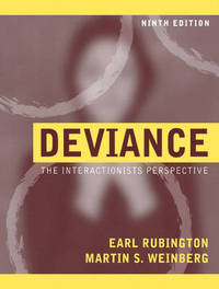 Deviance: The Interactionist Perspective by Earl Rubington image