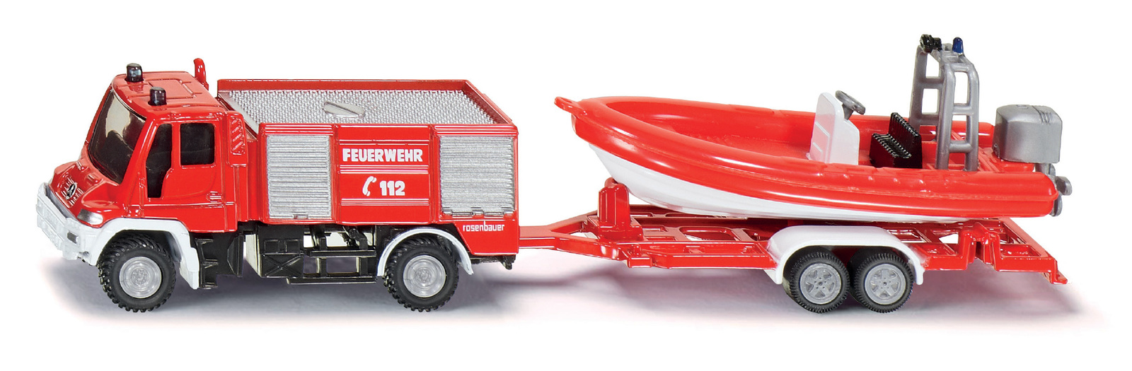 SIKU: Mercedes Unimog Fire Truck & Rescue Boat image