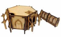 TTCombat: Tabletop Scenics - Gothic Outpost Building image