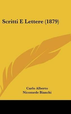 Scritti E Lettere (1879) by Nicomede Bianchi image