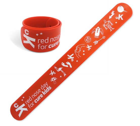 Cure Kids Red Nose Slap Bracelet