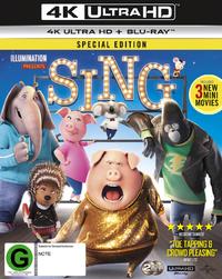 Sing on Blu-ray, UHD Blu-ray