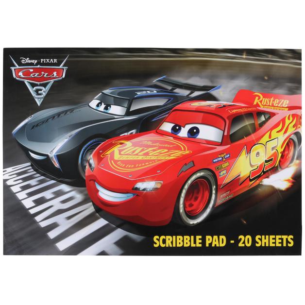 Disney Cars 3 Scribble Pad