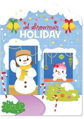 Christmas House Board Book a Snowman Holiday image