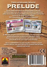 Terraforming Mars: Prelude - Game Expansion