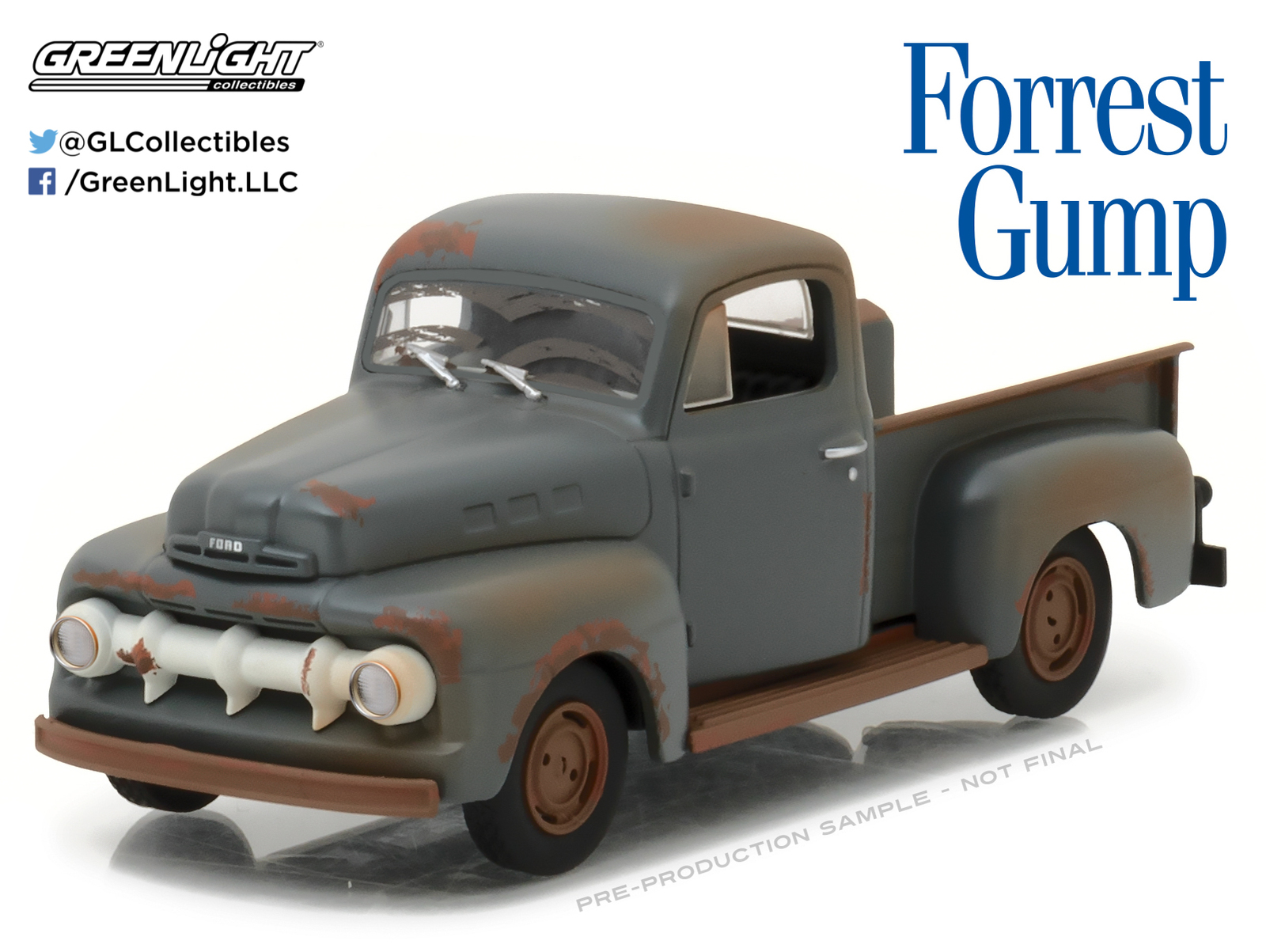 1/43: 1951 Ford F-1 Truck - Diecast Model image