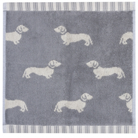Emily Bond Facecloth - Grey Dachshunds