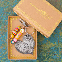 Natural Life: Santa Fe Keychain - Heart You Are So Loved