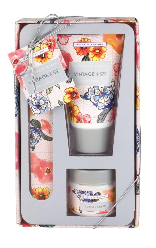 Vintage + Co - Patterns & Petals Nail Care Set