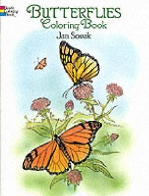 Butterflies Coloring Book by Jan Sovak