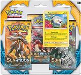 Pokemon TCG Sun & Moon 3-Pack Blister: Togedemaru