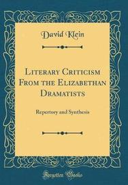 Literary Criticism from the Elizabethan Dramatists by David Klein image