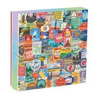 Galison: 500 Piece Puzzle - Vintage Travel Luggage Labels