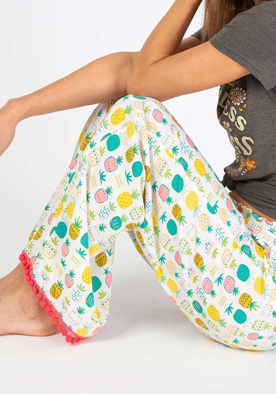 Natural Life: Lounge Pant - Cream Pineapple (XS/S)