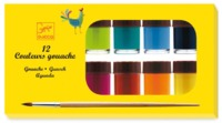 Djeco: Design - 6 Gouache Finger Paint Pottles