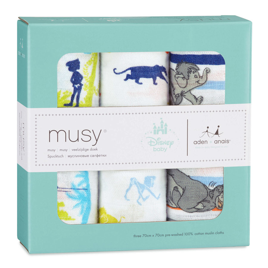 Aden + Anais: Disney Baby Musy - The Jungle Book (3 Pack Muslin Squares) image