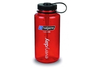 Nalgene 1.0L Wide Mouth Tritan Bottle (Red)