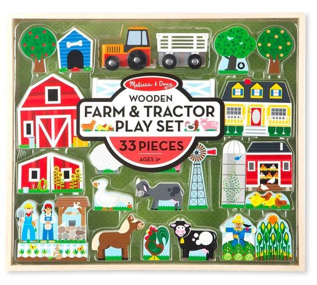 Melissa & Doug: Farm & Tractor - Wooden Playset