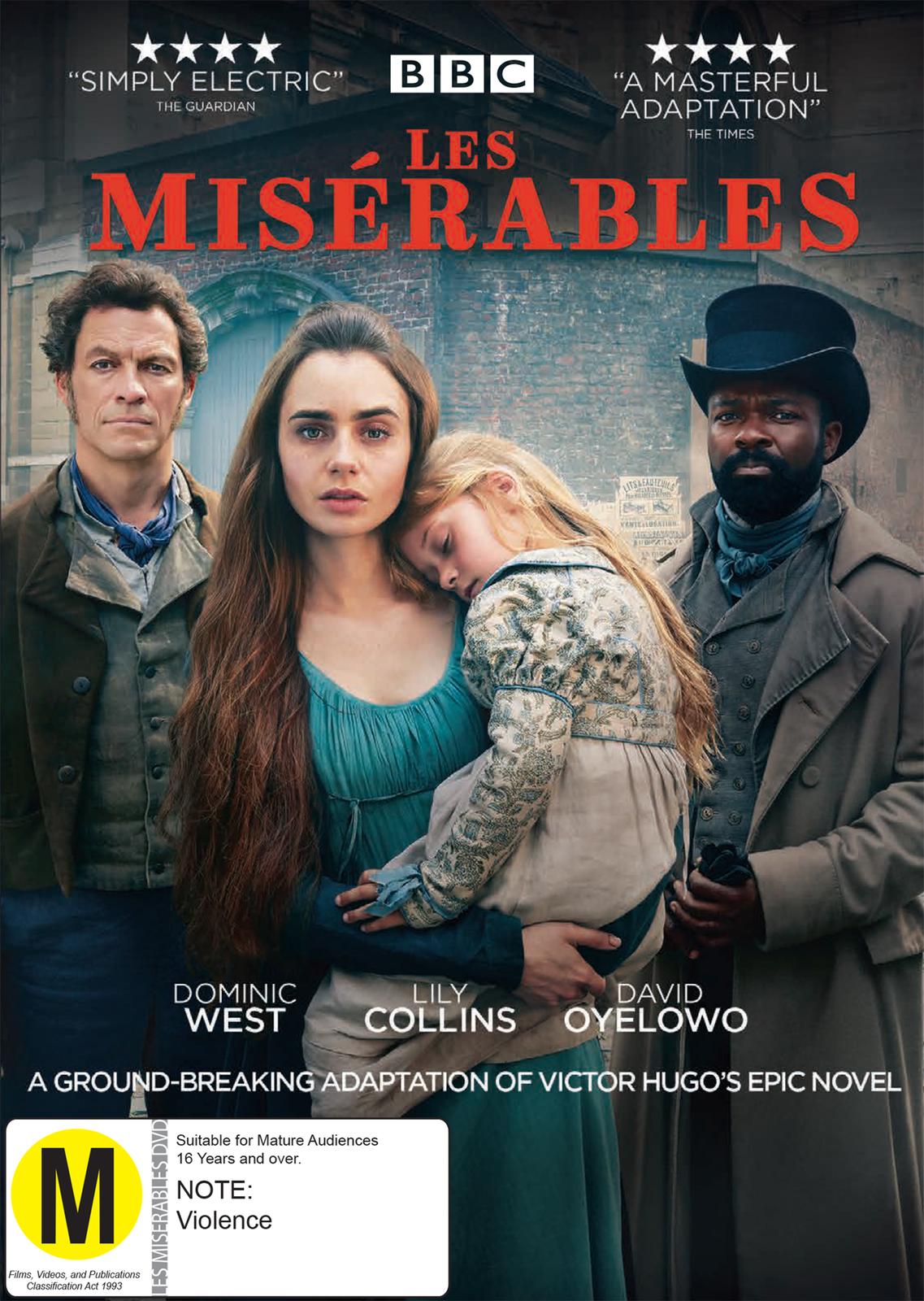 Les Miserables on DVD image