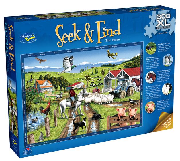 Holdson XL: 300 Piece Puzzle - Seek & Find (The Farm)