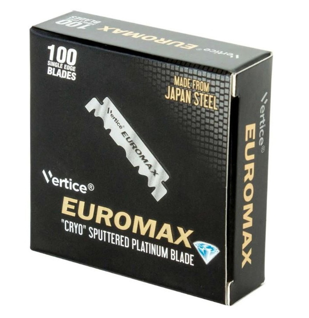 Euromax Saloon single edge Razor Blades (100)