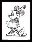 Disney Minnie Mouse Sketch - Framed