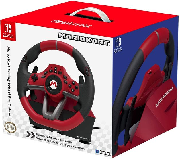 Switch Mario Kart Racing Wheel Pro Deluxe by Hori for Switch
