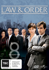 Law and Order - The 8th Year (5 Disc Set) on DVD