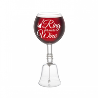 BigMouth Inc: Ring For More Wine - Novelty Wine Glass