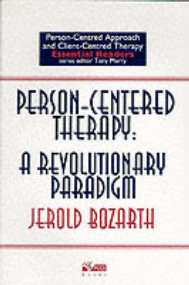 Person-centred Therapy by Jerold Bozarth image