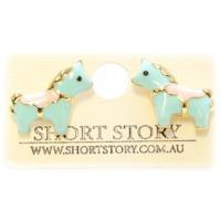 Short Story: Unicorn Earrings - Blue