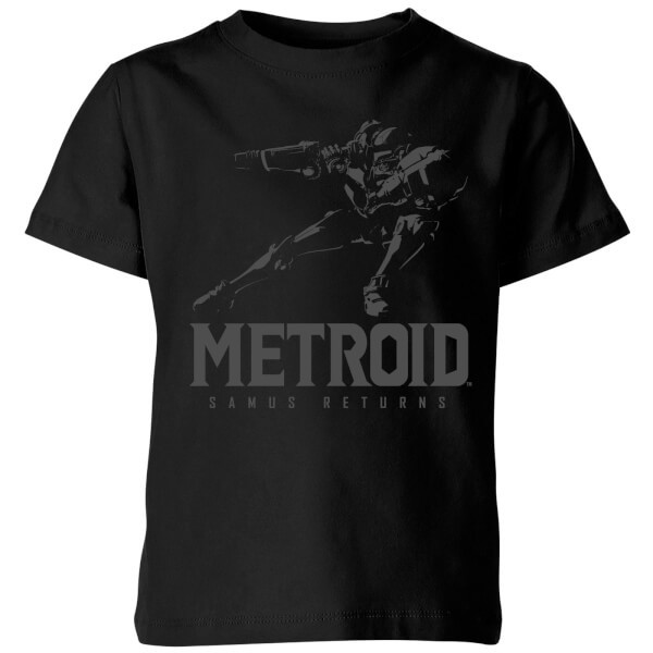Nintendo Metroid Samus Returns Kids' T-Shirt - Black - 11-12 Years image