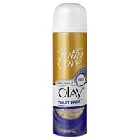 Gillette Satin Care Shaving Gel With Olay Violet Swirl (195g)