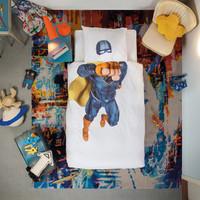Snurk: Quilt Cover Set Super Hero Blue - Single