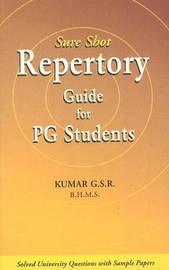 Sure Shot Repertory Guide for PG Students by G.S.R. Kumar image