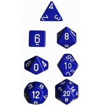 Chessex Opaque Polyhedral Dice Set - Blue/White image