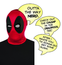 Deadpool Deluxe Mask with Speech Bubble Set