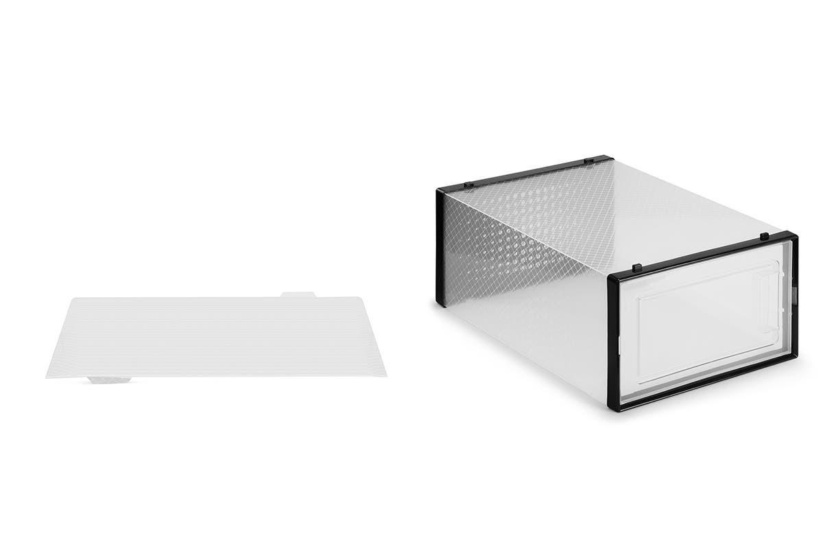 Ovela: Set of 12 Click Shoe Box (Small, Clear/Black) image