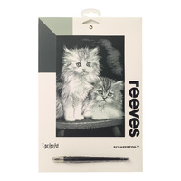 Reeves: Silver Scraperfoil - Fluffy Kittens