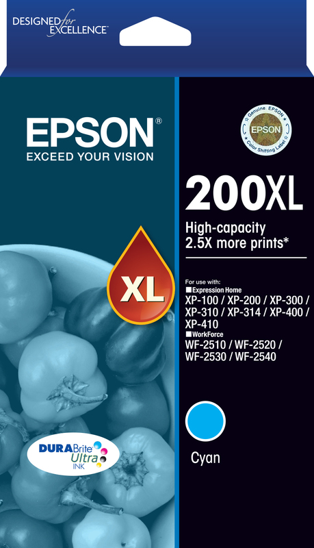 Epson Ink Cartridge - 200XL (Cyan)