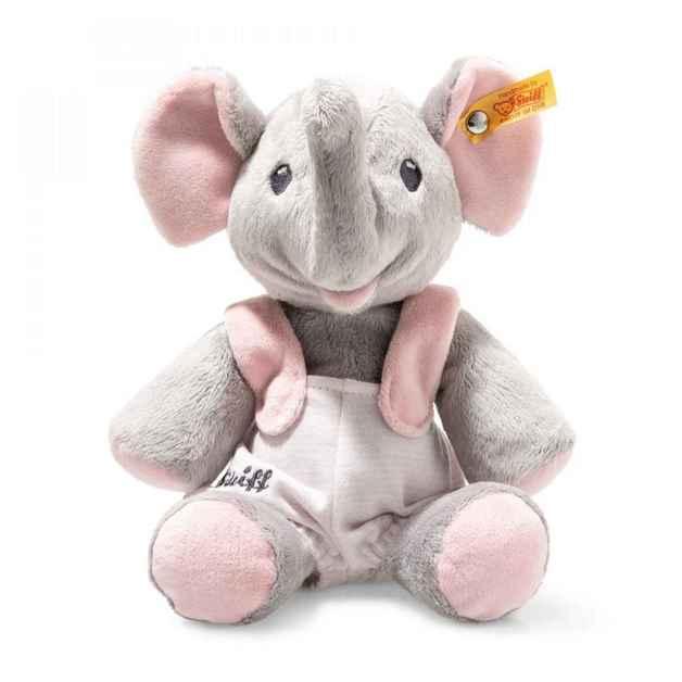 Steiff: Trampili Elephant - Grey/Pink