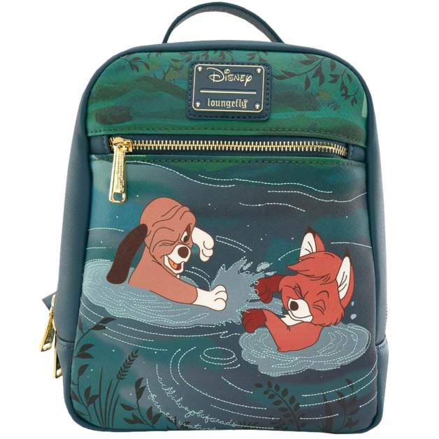 Loungefly: Fox and the Hound - Water Fight Mini Backpack