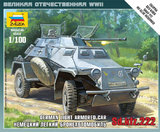 Zvezda: 1/100 SD. KFZ.222 Armoured Car - Model Kit