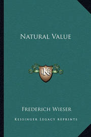 Natural Value by Frederich Wieser