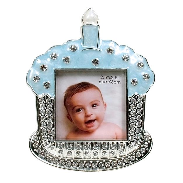 Dakota Baby Cupcake Frame - Blue
