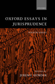 Oxford Essays in Jurisprudence: Fourth Series image
